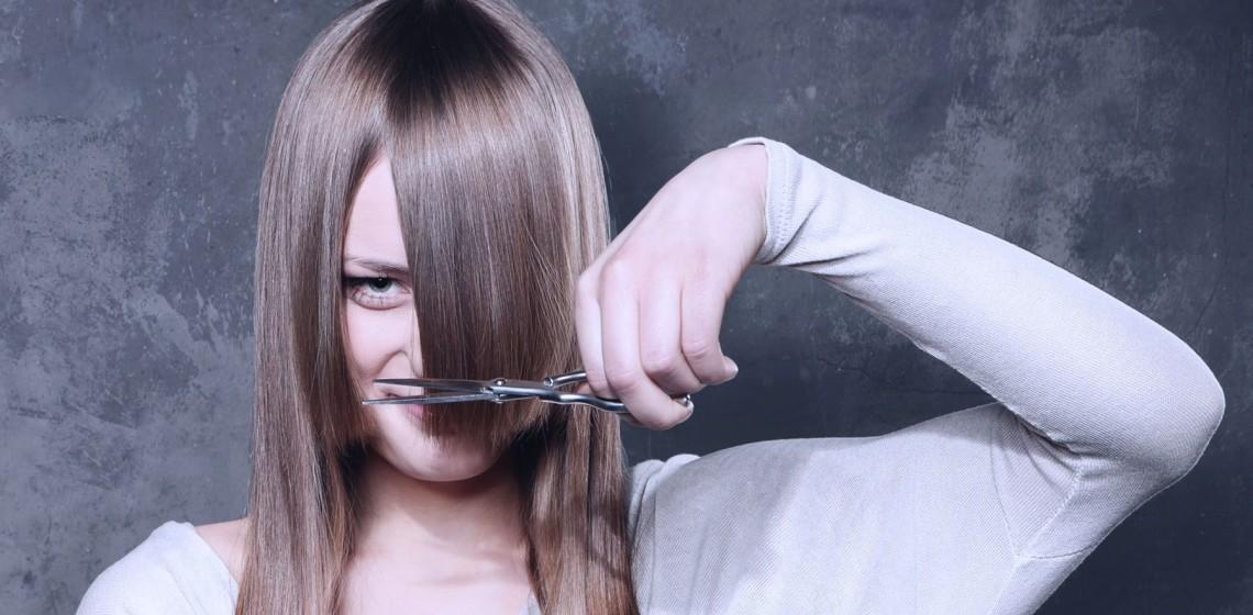 Как подстричь челку правильно