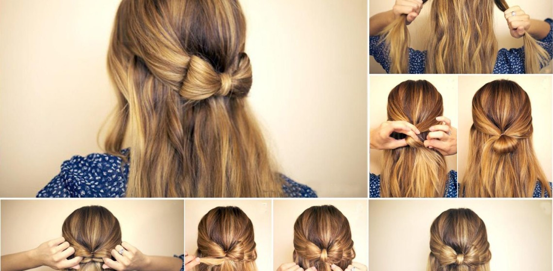 Легкие прически на средние волосы