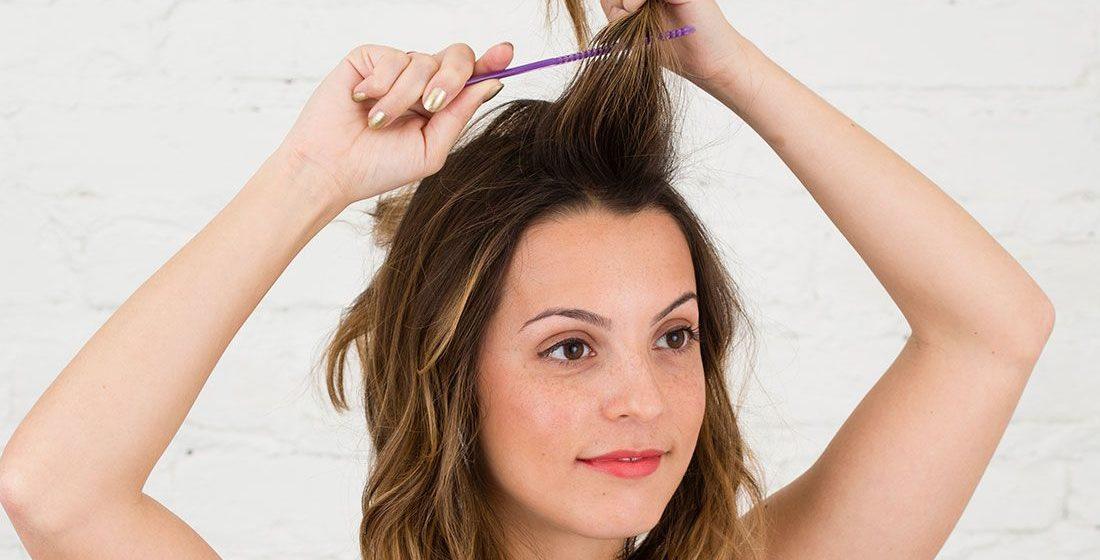 быстрая прическа на средние волосы своими руками