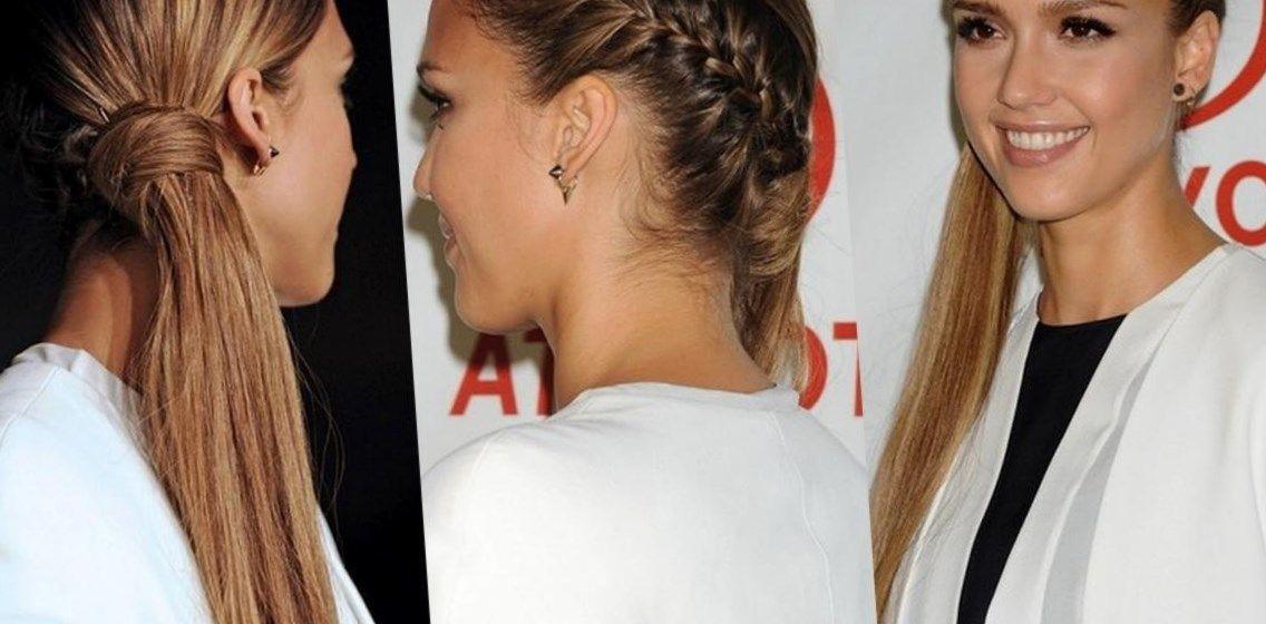 прически набок на длинные волосы