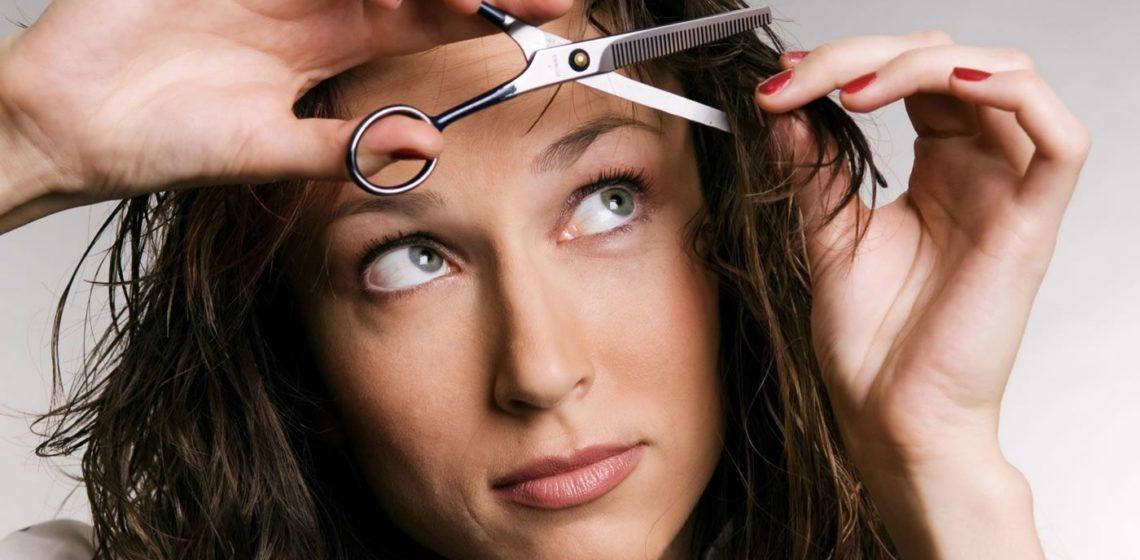 как подстричь челку на бок